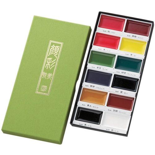 Zig Kuretake Gansai Tambi 12 Color Set Kuretake Gansai Tambi