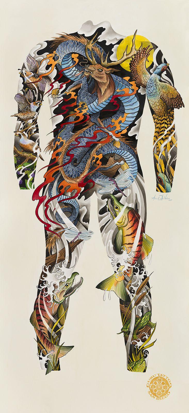 Guru tattoo san diego california guru tattoo dragon