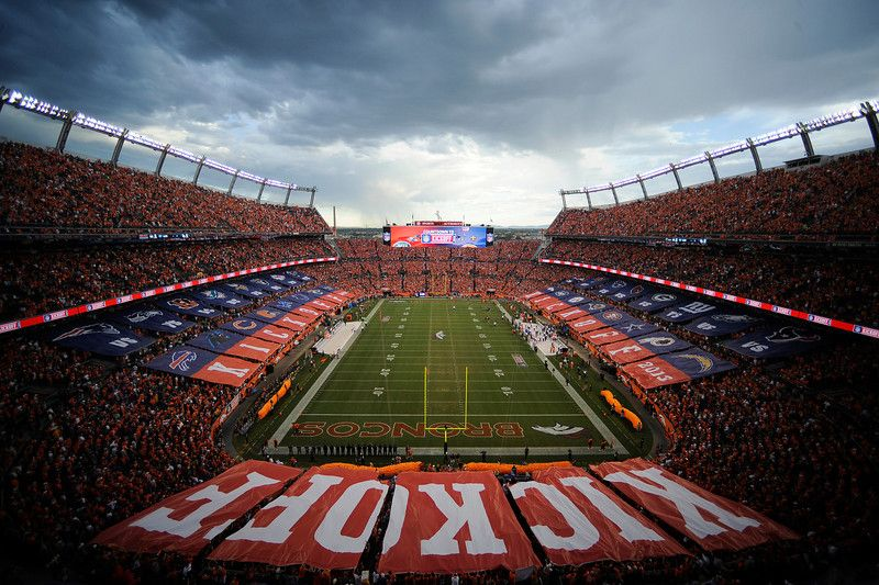 Denver Broncos fans United In Orange on Sept. 5, 2013. The