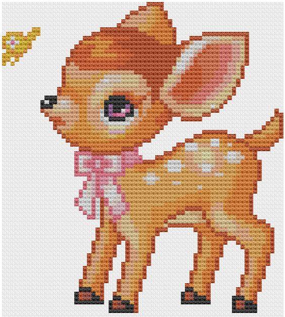 Cute Bambi Cross Stitch Pattern PDF Stitches, The great