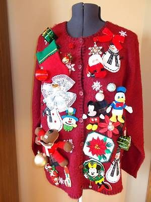land of misfit ornaments toys tacky crazy ugly christmas sweater 1x womens 201 ebay - Misfits Christmas Sweater