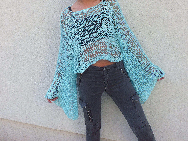 Sweater pattern, Shrug pattern, Beginner Pattern,Airy knitted ...