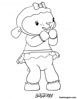 Printable Lambie The Lamb Doc Mcstuffins Coloring Pages Printable Coloring Pages For Kids Doc Mcstuffins Coloring Pages Coloring Books Doc Mcstuffins