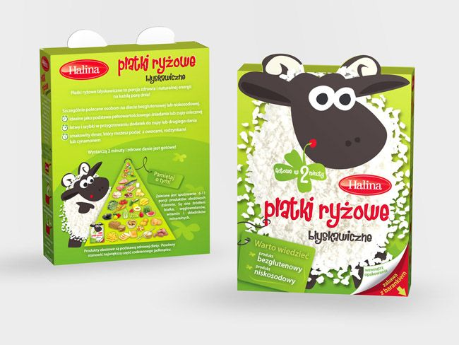 Halina Platki Ryzowe | Packaging of the World: Creative Package Design Archive and Gallery