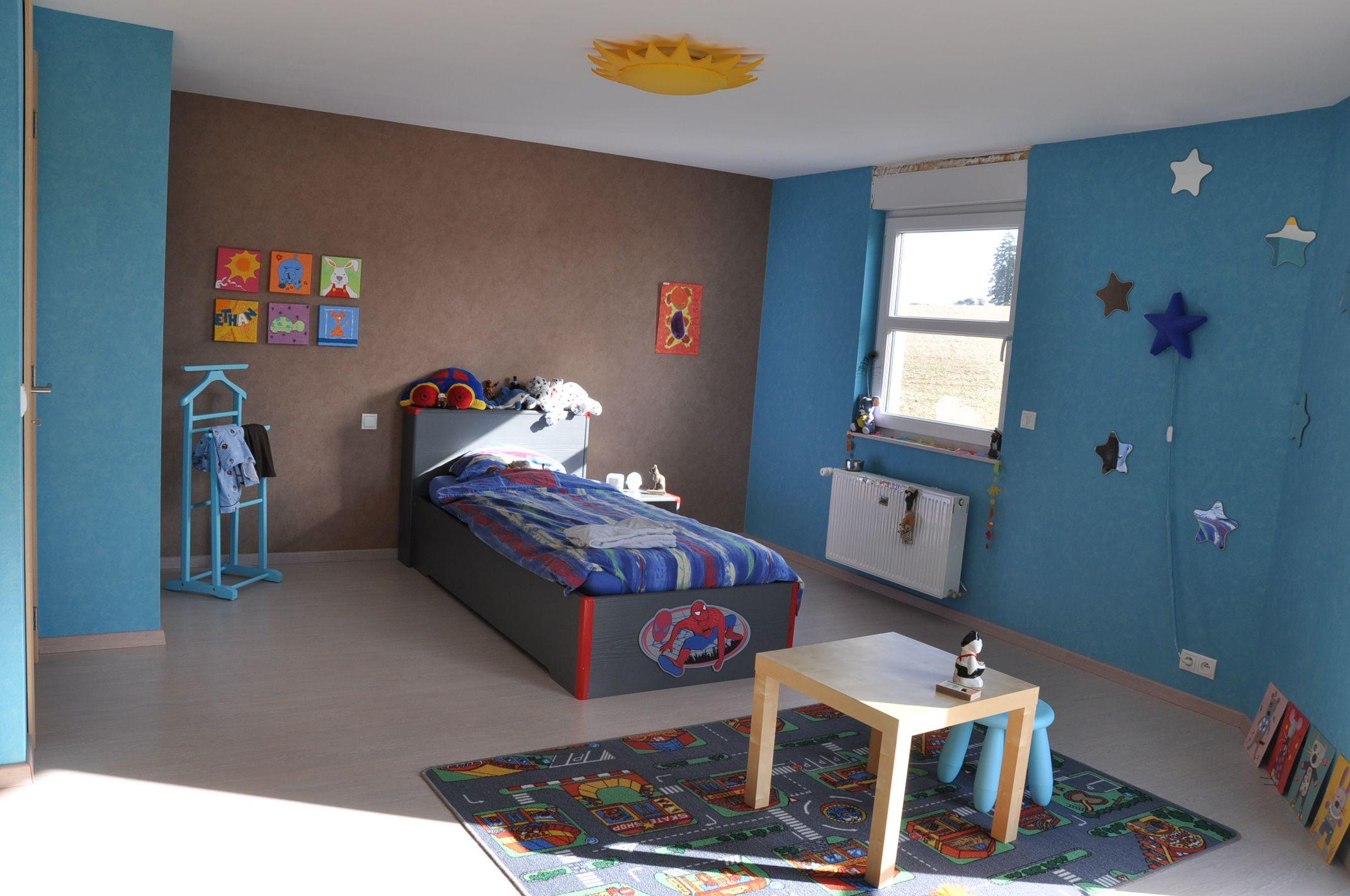 Figures De calcul des peinture bleu chambre garcon chambre