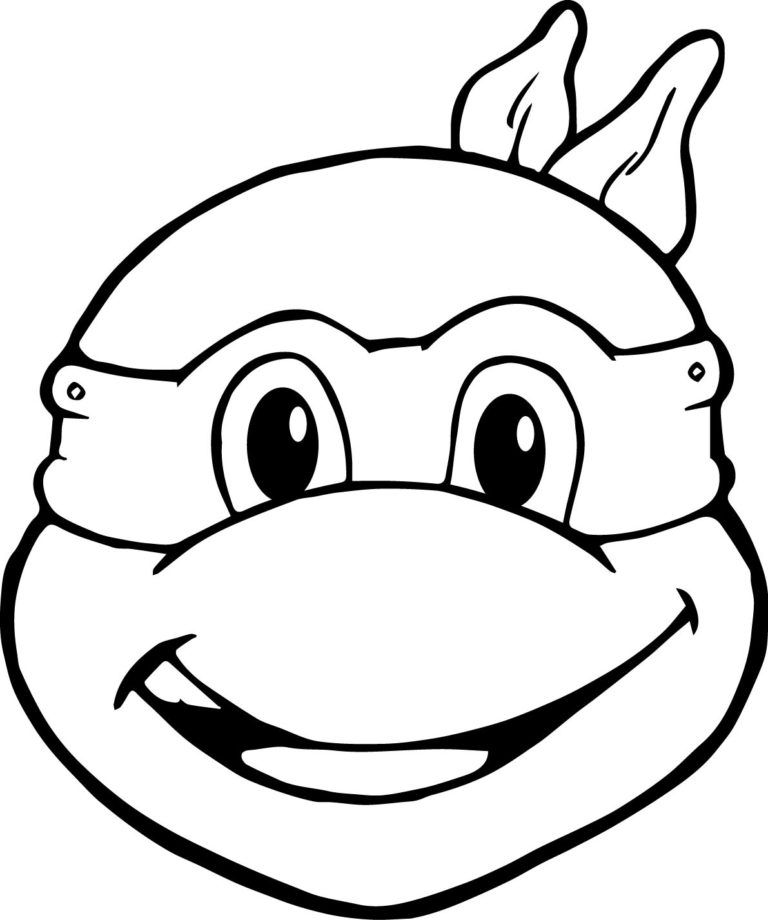 Funny Face Teenage Mutant Ninja Turtle Coloring Pages