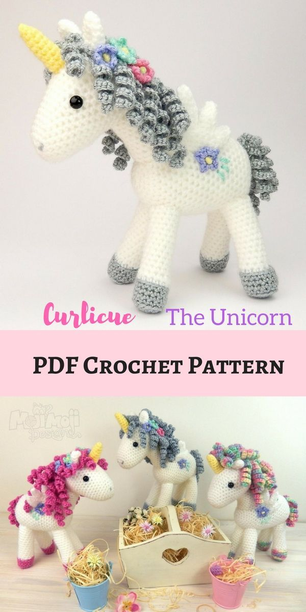 Curlicue the Unicorn | knitting and crochet | Pinterest | Patrones ...