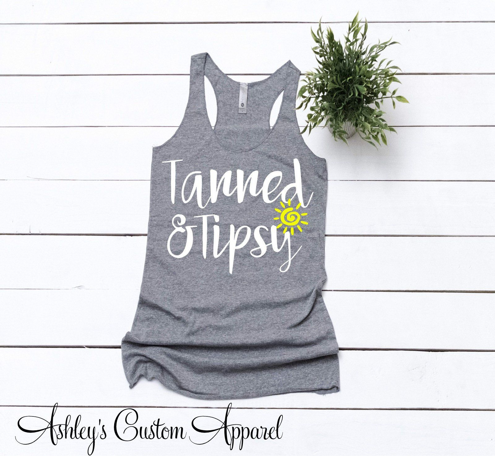 River Times and Tan Lines Ladies Summer Lightweight Racerback Tank Top