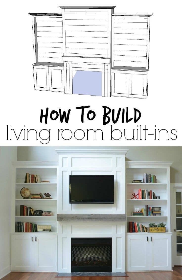 """Photo of Living Room Built-Ins """"Tutorial"""" + Cost  — Decor and the Dog"""