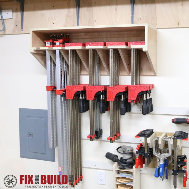 Clamp Storage Rack--