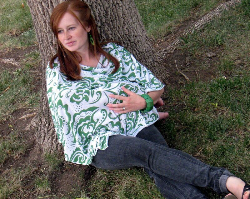Stylish nursing poncho - works much better and is way cuter than a typical cover or blanket!