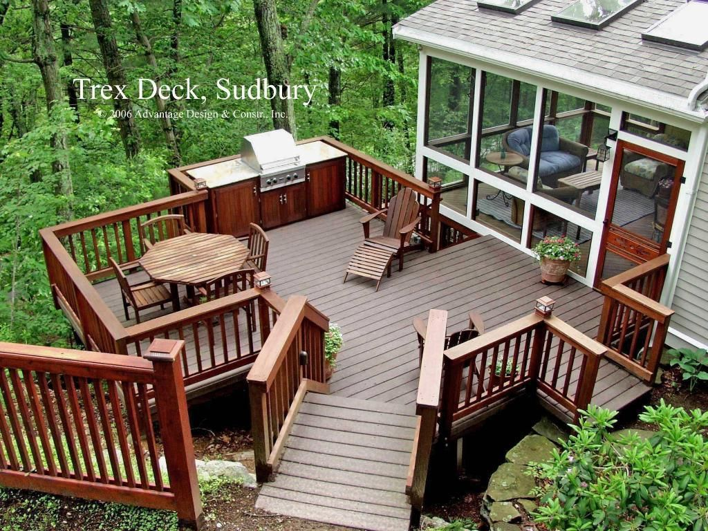 Trex Deck To The Backyard Sudbury Ma