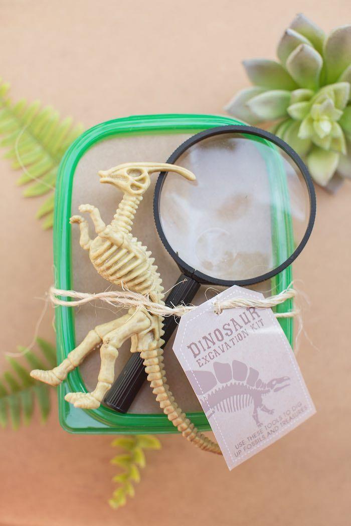 Dinosaur Excavation Kit from a Modern Dinosaur Birthday Party via Kara's Party Ideas KarasPartyIdeas.com (23)