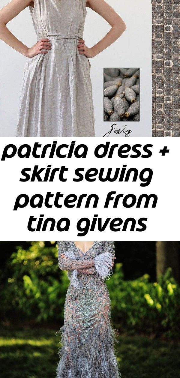 from Tina Givens NEW THE PATRICIA DRESS /& SKIRT SEWING PATTERN