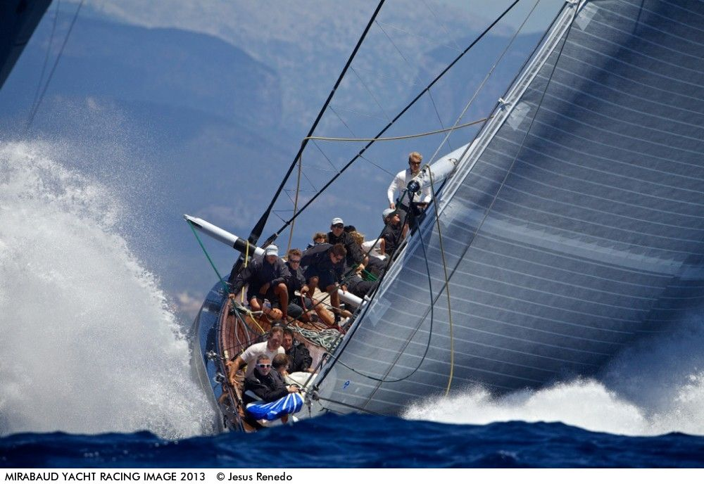 Hanuman - Photo by Jesus Renedo - The first time 5 J Class raced together in Europe. The first day of the event was awesome, with 15-20 knots of wind ...