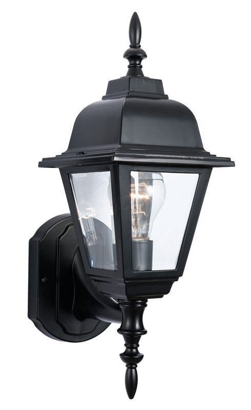 Design House 507566 507566 Maple St Blk C-Cast Outdoor Up Black