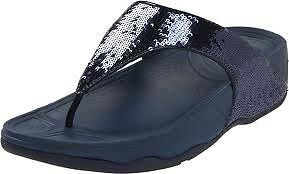 a3f6697699a FitFlops Fit Flop Electra Super Navy Sequin Toning Flops NEW FREE SHIP