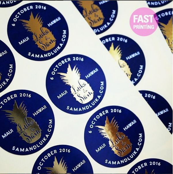 Foil stickers supplied on sheets fastprinting surryhills sydney newyork london