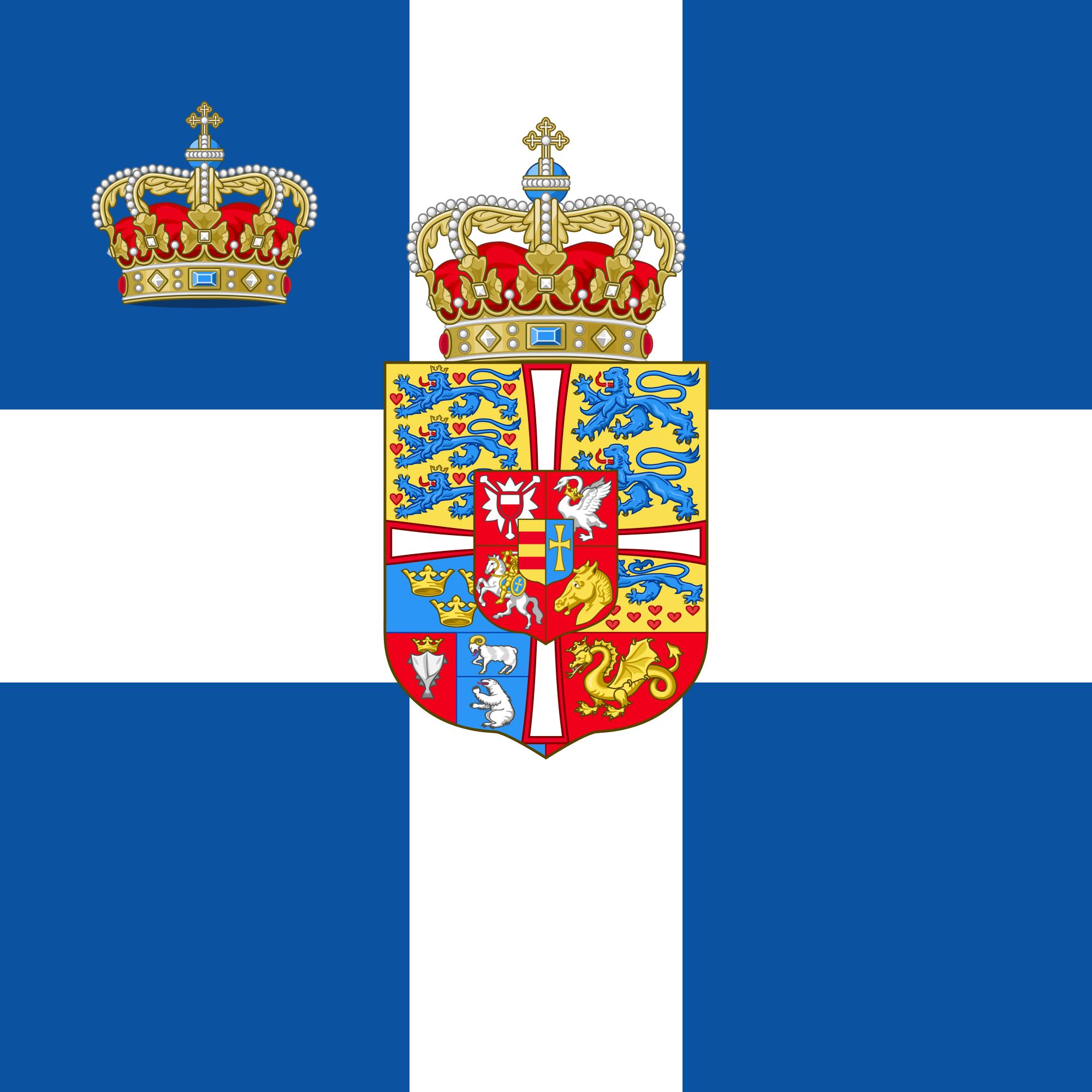 Standard Of The Crown Prince Of Greece 1936 1967 Greek Flag Greece Greek Royal Family