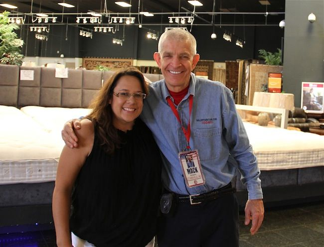 Beau @Lori Falcon And Mattress Mack During Her Visit To Gallery Furniture. We  Enjoyed Having You And Your Mother In The Store, Lori!