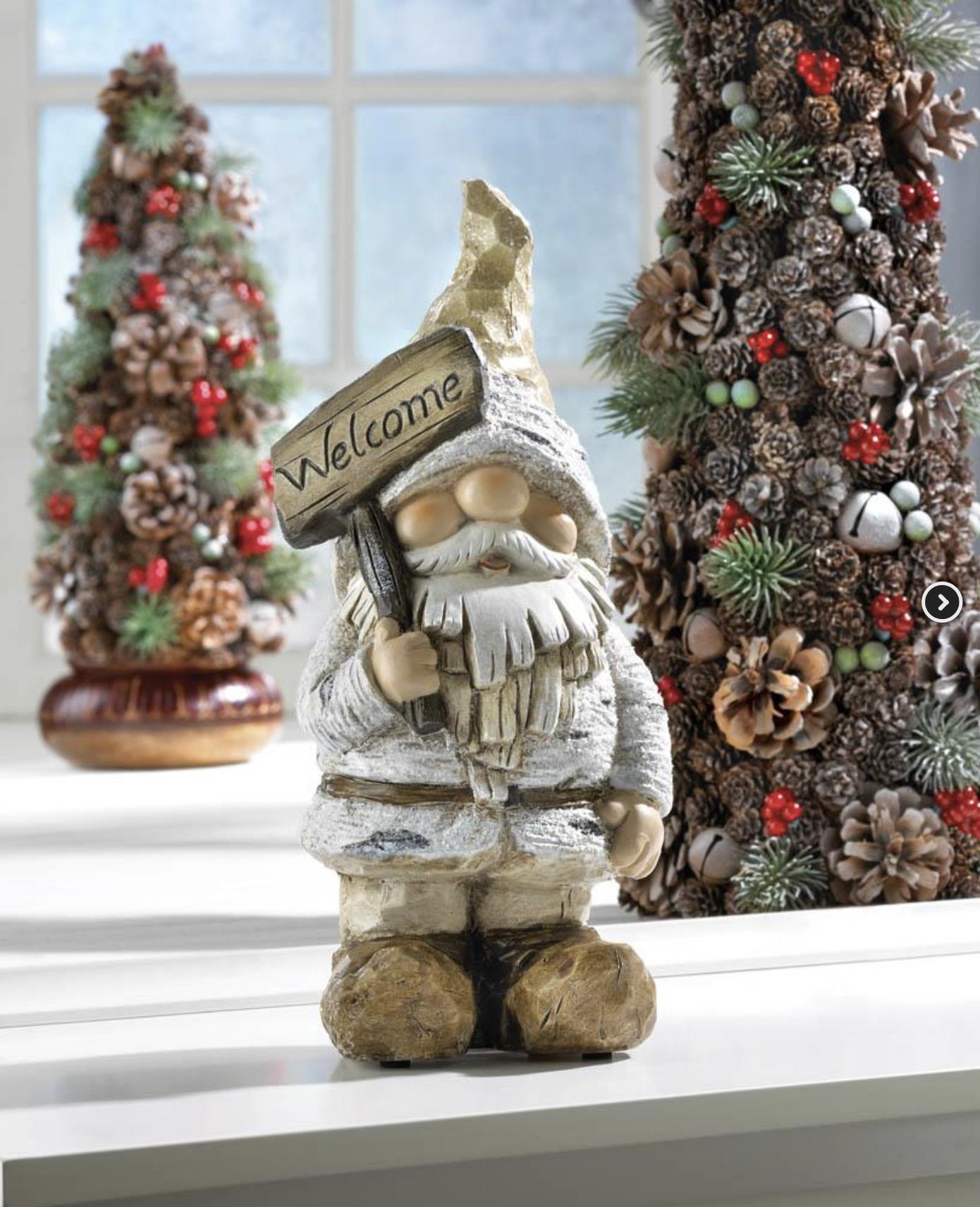 Winter Gnome Figurine Gnome statues, Gnomes, Holiday