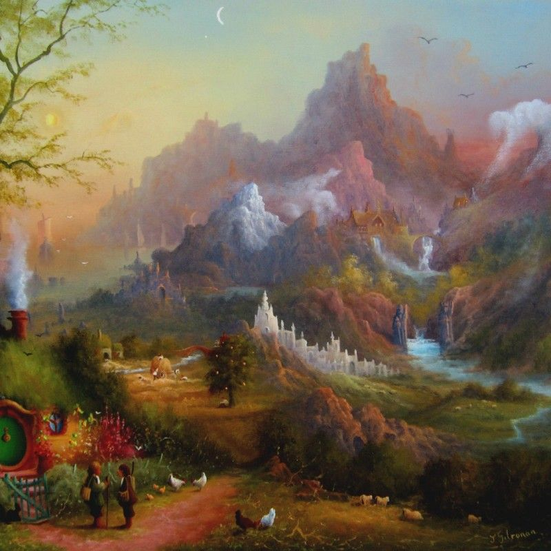Beautiful MiddleEarth Art From The Shire To The Sea