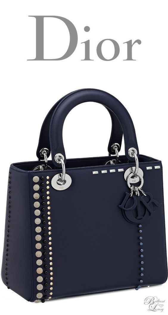 c9a0c34755 Brilliant Luxury   Dior Cruise 2016 ~ Lady Dior bag in calfskin studded  with beads and rhinestones