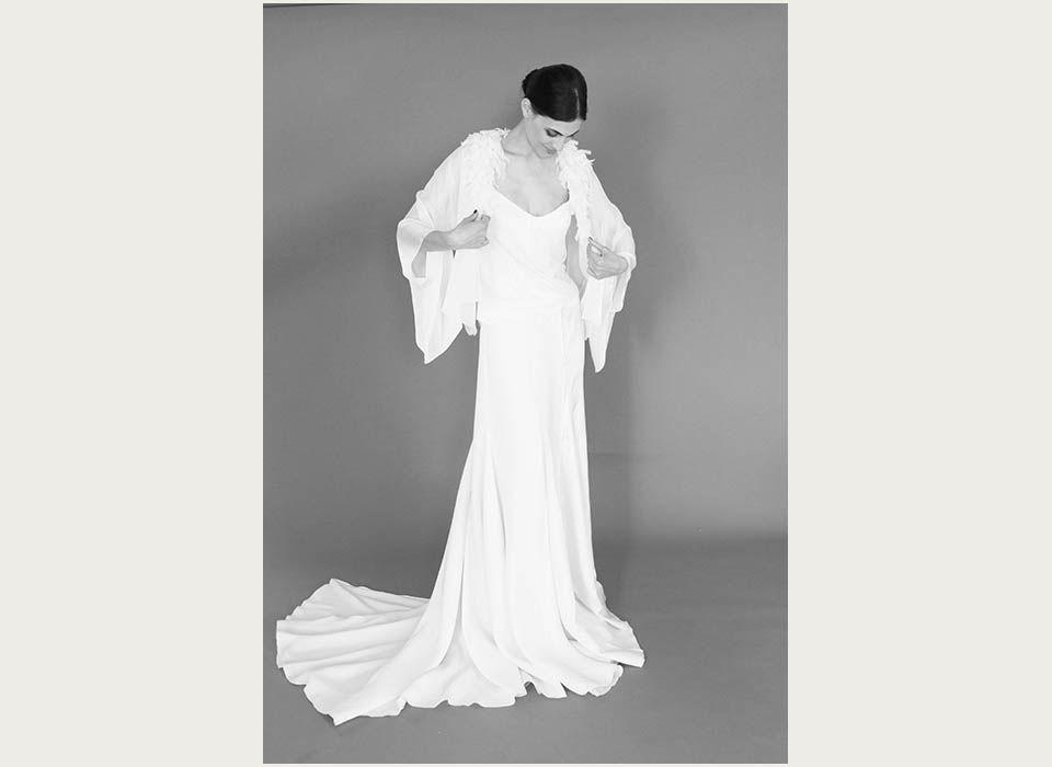 Collection In Bloom , modele Kimono , Bérengère Saint Pierre , Créatrice de  robes de mariée uniques et sur mesure à Paris , www.atelierbsp.com ,  Création