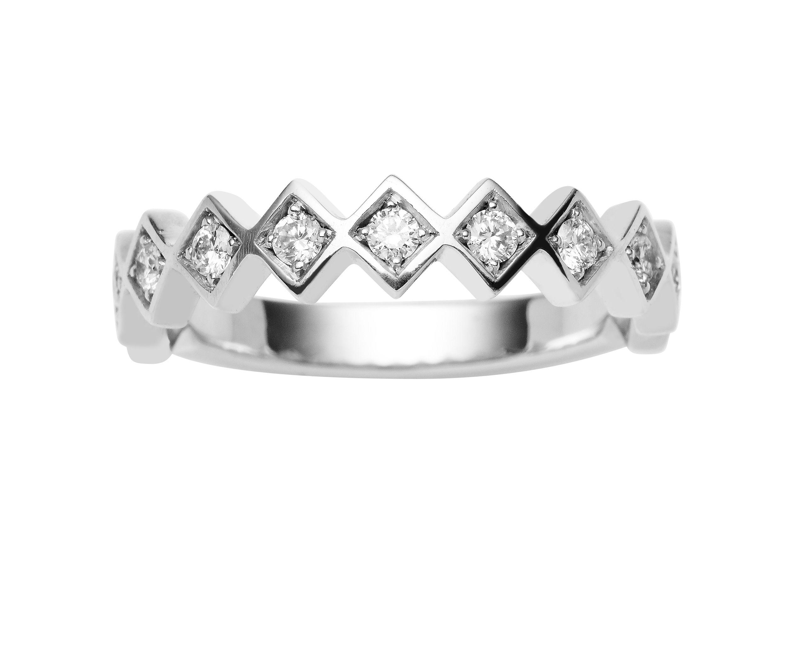 18CT WHITE GOLD DIAMOND TRULLI BAND Diamond wedding