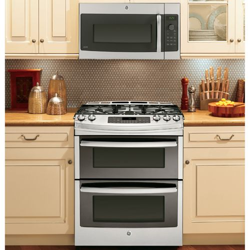 Double Oven Stove With Built In Microwave Above Best Option For