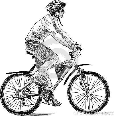 Resultado De Imagen De Hombre En Bici Dibujo Art Works Bicycle Art