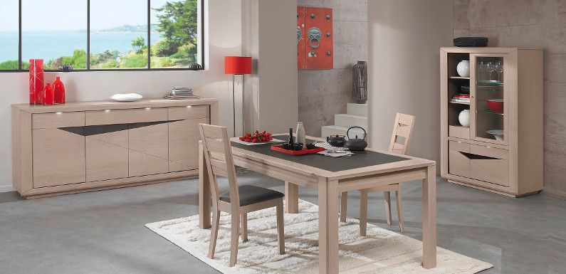 Table salle a manger chene massif contemporain - Table salle a manger chene massif contemporain ...