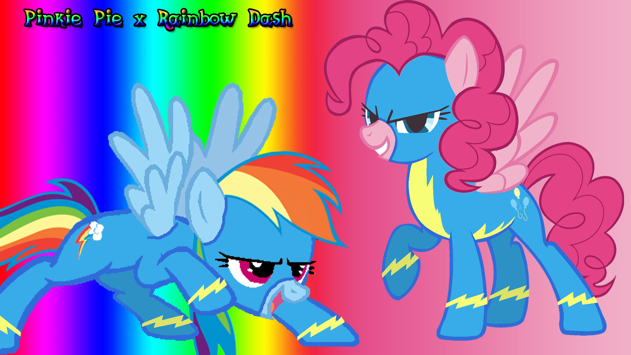 Pinkie Pie And Rainbow Dash As Quot The Wonderbolts Quot Mlp My