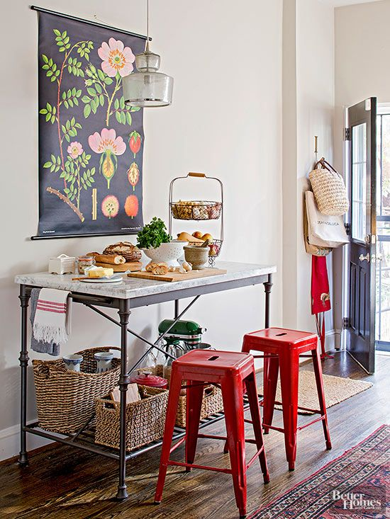 A pop of color and fresh, youthful accents transform this historic house  into a modern, approachable living space. Get an inside look at how the homeowners tran