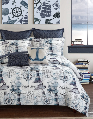 Anchor Bedding Sets And Anchor Comforter Sets Beachfront Decor Nautical Bedding Sets Beach Bedding Sets Bedding Sets