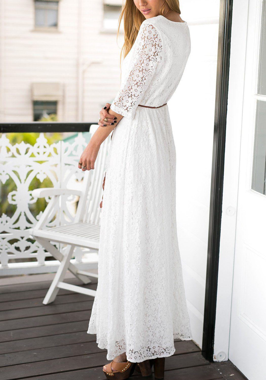 Robot Check White Floral Maxi Dress White Floral Maxi Summer Maxi Dress Floral [ 1500 x 1050 Pixel ]