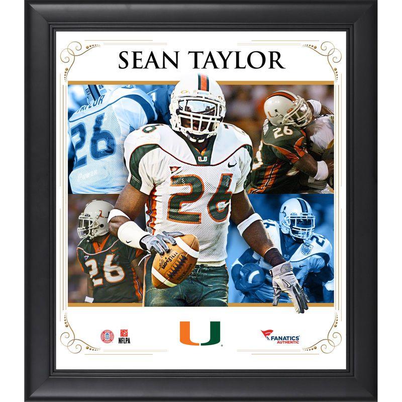 quality design 6c110 05a8e Sean Taylor Miami Hurricanes Fanatics Authentic Framed 15