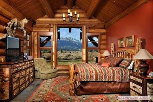 Log cabin home decor bedrooms bathrooms and - Log cabin bedroom decorating ideas ...