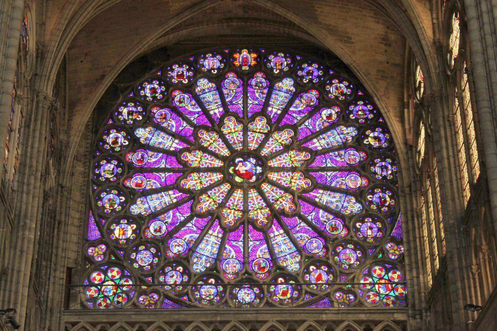 The Nave Of Basilica At Saint Denis