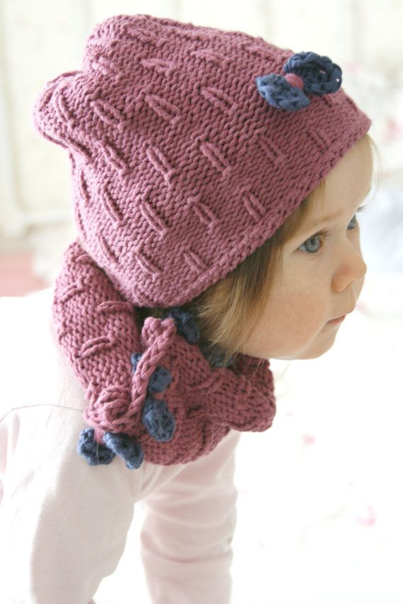 This Is Knitting Pattern For Simple Slouchy Hat And Cowl With Little