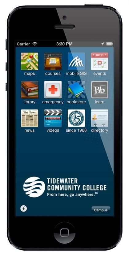 Tidewater Community College is now MOBILE! Download our app
