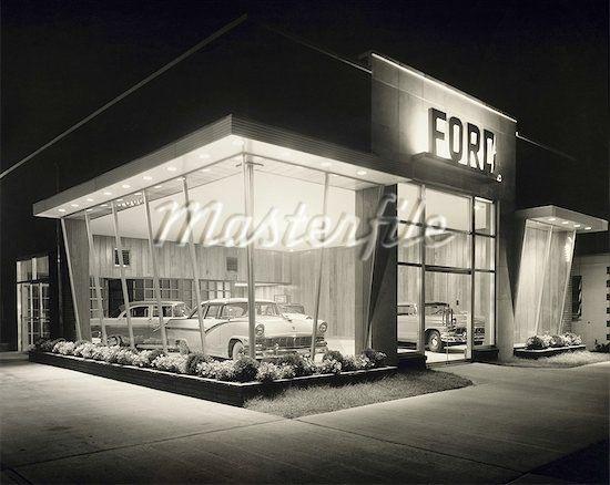 Old Ford Dealership Car Showroom Dealership Showroom Dealership
