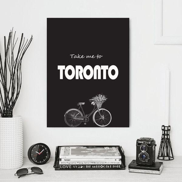 Toronto print take me to toronto quote poster canada wall art toronto
