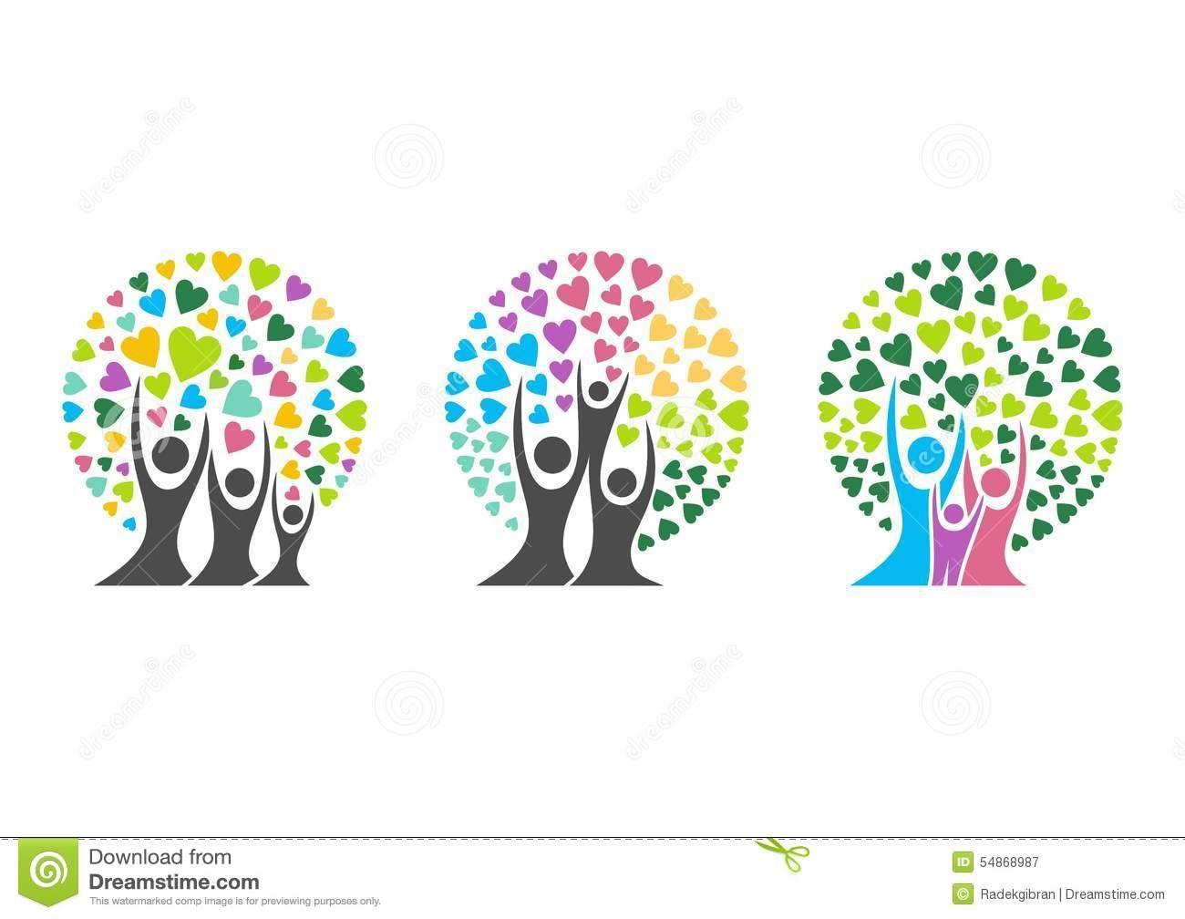family tree logo family parent kid heart parenting care circle health education symbol icon. Black Bedroom Furniture Sets. Home Design Ideas