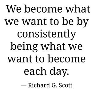 Just have to do it consistently. A.D.(P.)
