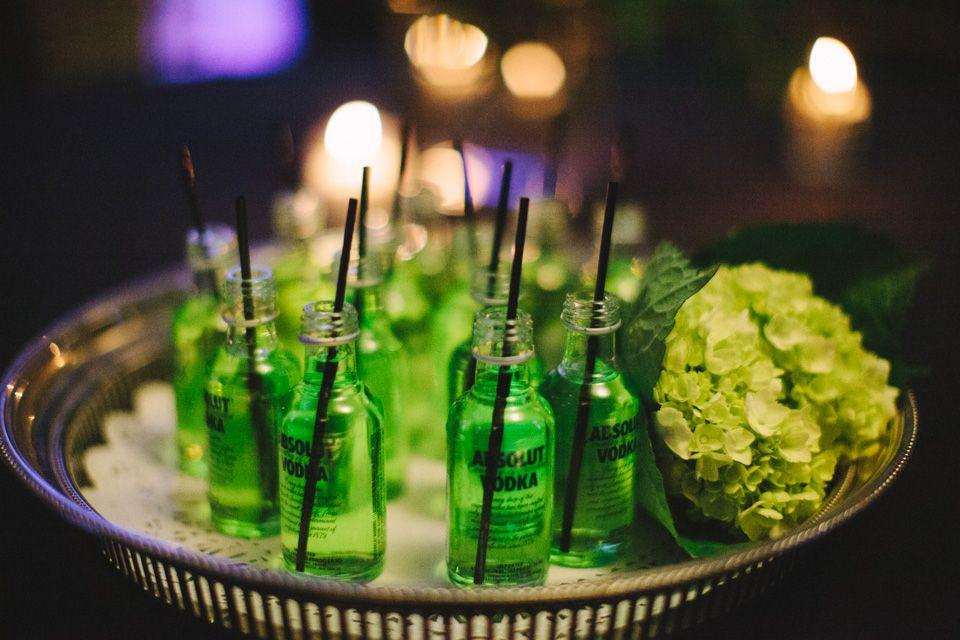 "The Gatsby Gala. ""The Green Light""... Custom Mini Cocktails"