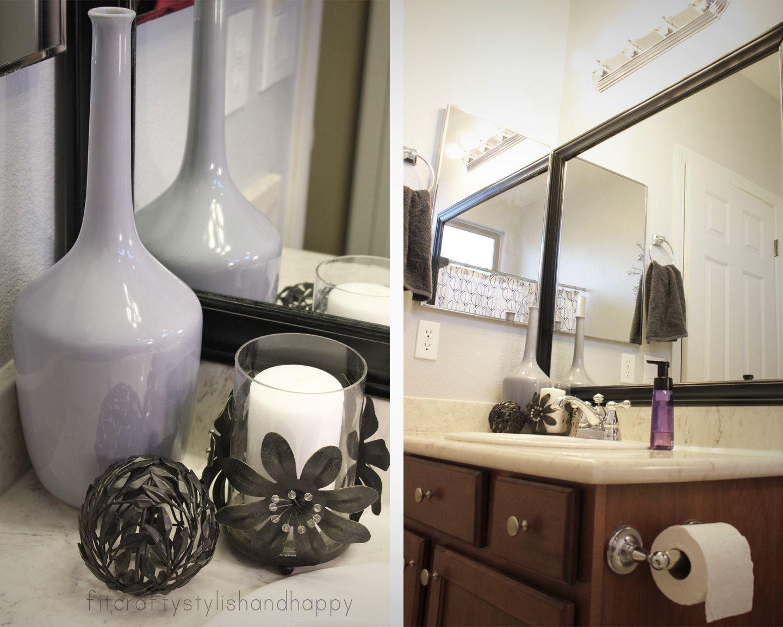 Bathroom decor black and white - Bathroom Decor Grey