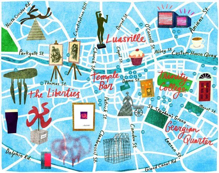 Illustrated Dublin guide to Dublin things to do travel Europe