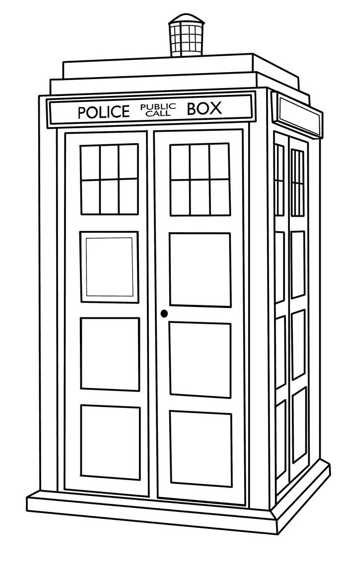 Tardis outline by callmepin on deviantart doctor who for Tardis coloring pages