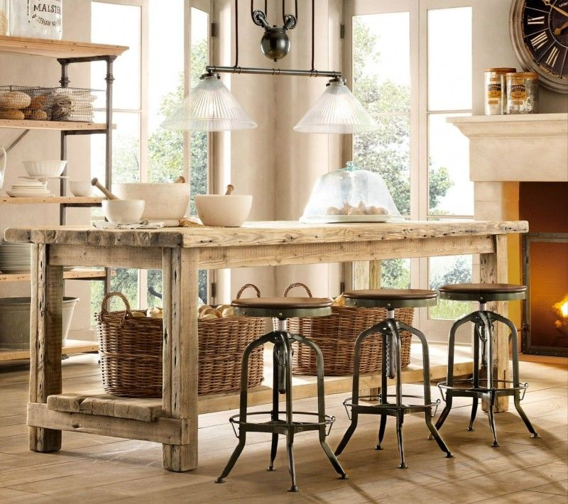 French Country Barstools   Ideas on Foter   Rustic kitchen ...
